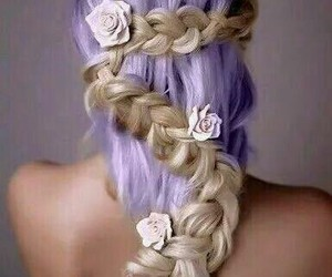 braid, fashion, and colored hair image