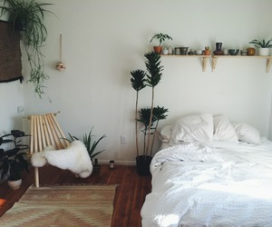 bedroom, room, and plants image