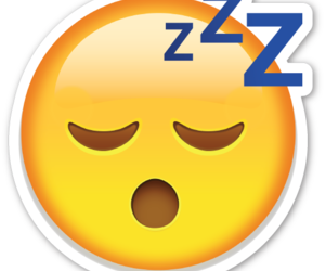 emoji and sleep image