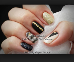 girly, glittery, and gold image