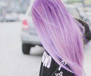 hair and purple image