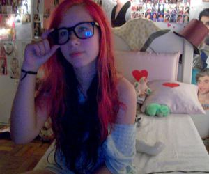 fashion, pink hair, and scne image