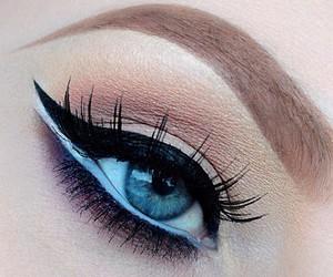 eyeliner, blue, and eyes image
