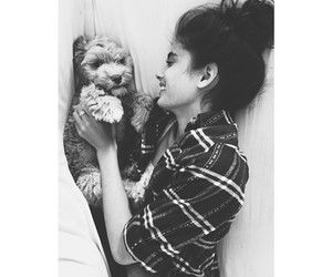 girl, dog, and taylor hill image