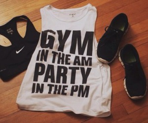 gym, fitness, and outfit image
