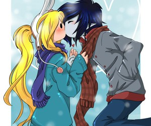 adventure time, marshall lee, and kiss image