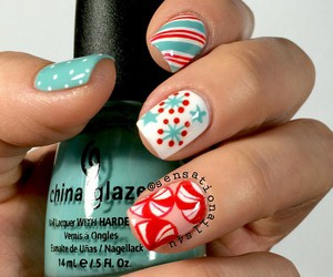 nails, christmas, and manicure image