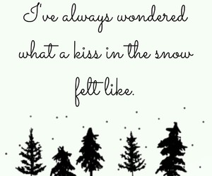 kiss, snow, and winter image