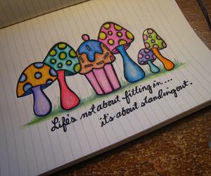 mushroom, cupcake, and life image