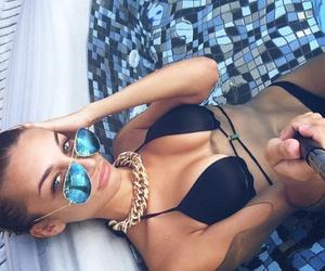 beauty, sunglasses, and women image