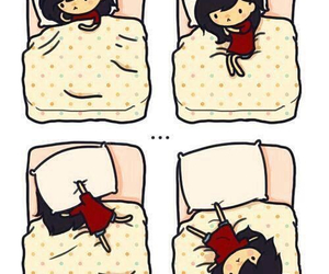 sleep, bed, and me image