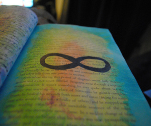infinity, infinite, and book image