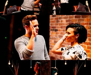 demi lovato, olly murs, and up image
