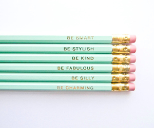 pencil and mint green image