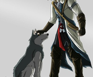 dogs, fan art, and assassins creed 3 image