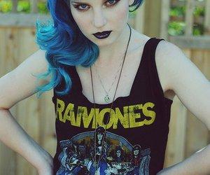 ramones, blue hair, and hair image