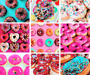 colours, delicious, and donuts image