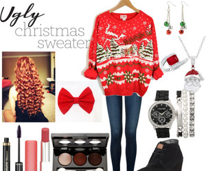 christmas, outfits, and Polyvore image