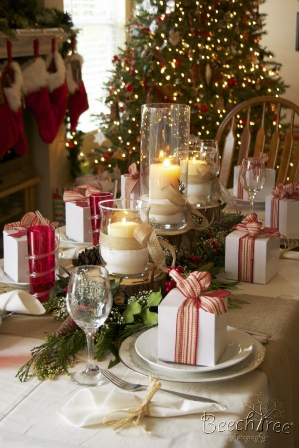 Entrance Romantic Christmas Dinner Table Decor For Holy Night For