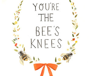 quote and bee image