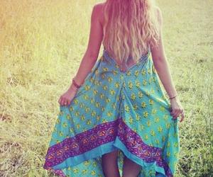 boho, dress, and summer image
