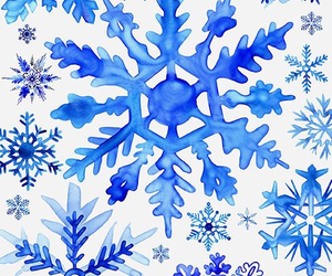 blue and snowflake image