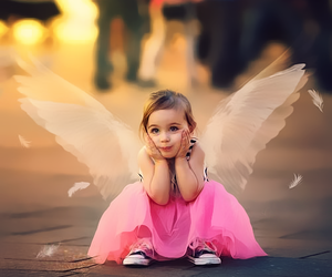 baby, angel, and child image