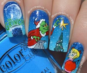 christmas, nails, and grinch image