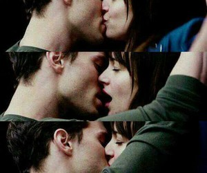 kiss, fifty shades of grey, and christian grey image