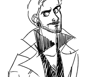 once upon a time, killian jones, and fanart image