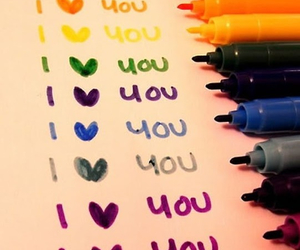 love, colors, and I Love You image