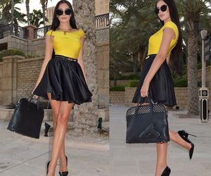 fashion, black, and yellow image