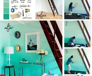 diy, wall, and blue image