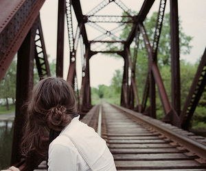 girl and bridge image