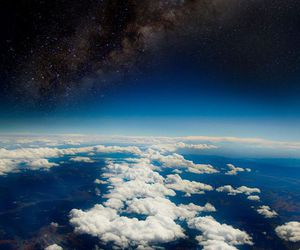 clouds, space, and earth image