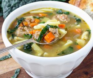 kale, sausage, and soup image