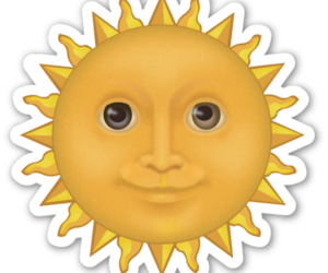 sun, emoji, and overlay image