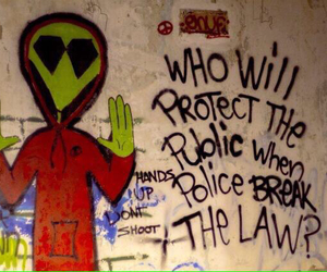 alien, police, and grunge image