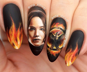 nails and katniss everdeen image