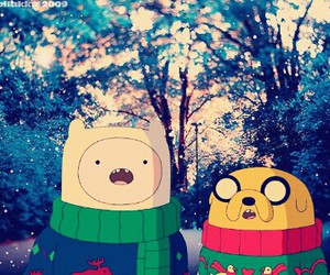 christmas, adventure time, and jake the dog image