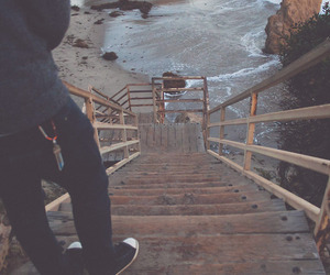 beach, cold, and down the stairs image