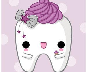 cupcake, purple, and tooth image