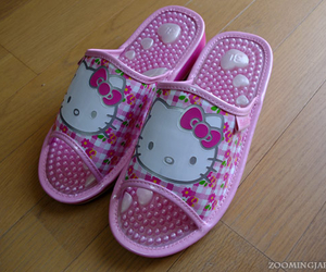 hello kitty, slippers, and massaging insole image