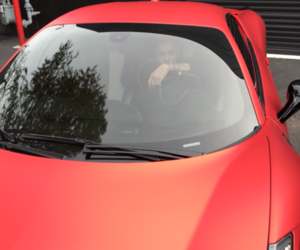 justin bieber, car, and red image