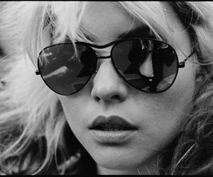 blondie, debbie harry, and black and white image