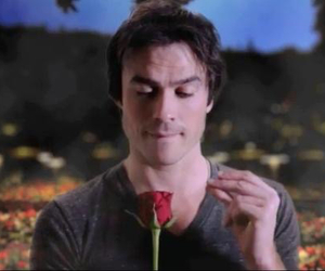 boy, damon, and flower image