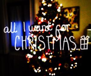 christmas tree and all i want for christmas image