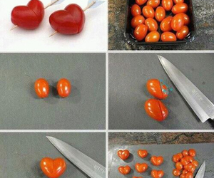 tomato, heart, and food image