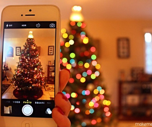 beautiful, phone, and christmas image
