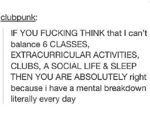 clubs, sleep, and social life image